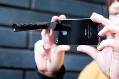 The iPhone Boom Mic  A compact mic for iPhone video recording that sounds as good as it looks.
