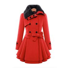 2015 New Winter Coat Women Fashion Double Breasted Thicken Slim Long Style Wool Blends Coats Elegant Long Wool Outwear (China (Mainland))