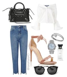 """""""Give me a little look.."""" by keiramariexo on Polyvore featuring Miss Selfridge, Jacquemus, Alexandre Birman, Balenciaga, Prada, Cartier, Rolex and Givenchy"""