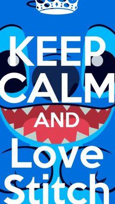 Keep Calm and love Stitch. So cute!!:)