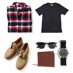 great combo // the ray bans tie it all together