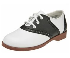 What Did Women Wear in the 1950s? 50s Saddle Shoes Brown Soles $44.99 AT vintagedancer.com
