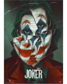 Joker Movie Poster Prints - Set of 6 inches x 10 inches) Pictures - Joaquin Phoenix Joker Comic, Joker Batman, Joker Film, Batman Art, Comic Art, Gotham Batman, Batman Robin, Joker Poster, Joker Hd Wallpaper