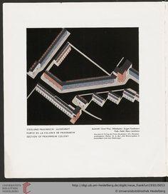 Hans Leistikow, architectural chart, 1930. Section of Praunheim Colony by architect Ernst May, Frankfurt. / Das neue Frankfurt: internationale Monatsschrift für die Probleme kultureller Neugestaltung (4.1930)