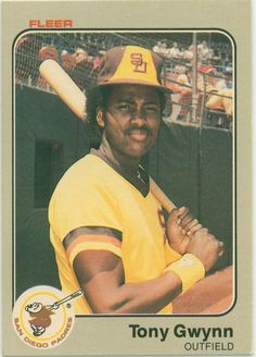 TBT: #throwbackthursday Today we pay tribute to MLB Hall of Famer Tony Gwynn with his Rookie Card. The San Diego Padres have scheduled a public tribute to him for June 26 at Petco Park. Gwynn played his entire 20-season career with the Padres. He had 3,141 hits -- 18th on the all-time list -- a career .338 average and won eight batting titles to tie Honus Wagner's National League record. He was inducted into the Hall of Fame in 2007, along with Cal Ripken Jr.