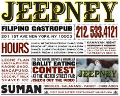 Jeepney filipino gastro pub e. village