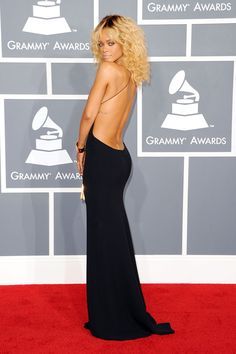 In an Armani gown at the 54th Annual Grammy Awards. See all of Rihanna's best looks.