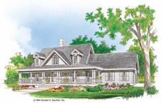 Eplans Farmhouse House Plan - Down-Home Country - 2164 Square Feet and 4 Bedrooms(s) from Eplans - House Plan Code HWEPL07023