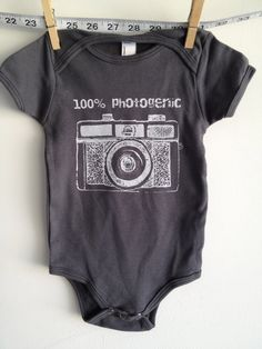 baby clothes baby onesie holga camera by littleleestudios on Etsy, $16.00