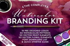 Graphic Design - Graphic Design Ideas  - The Watercolor Branding Kit by MakeMediaCo. on Creative Market   Graphic Design Ideas :     – Picture :     – Description  The Watercolor Branding Kit by MakeMediaCo. on Creative Market  -Read More –