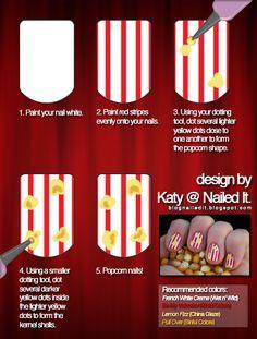 Nailed it - Popcorn Nails Tutorial!
