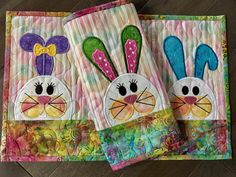 A personal favorite from my Etsy shop https://www.etsy.com/listing/521666743/quilted-easter-placemats-whimsy-bunnies