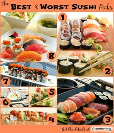 Love me some sushi and sashimi... but it's not always as good for you as you might thing. Find healthier choices here.
