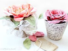 We can't get enough of these delicate, feminine paper roses