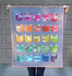 Cat mini quilt pattern free from Oh Fransson