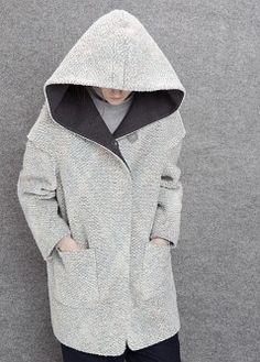 Hooded wool-blend coat - Women   MANGO