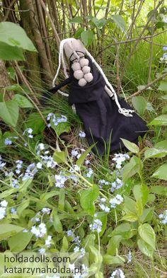 Baba Jaga art doll, textile doll, oak doll, soft sculpture, magic, talisman, which
