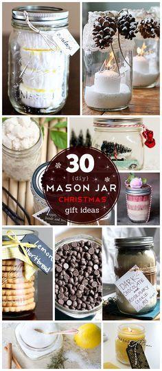 30 DIY Mason Jar Christmas Gifts Ideas