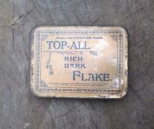 Tobacco Tin 'TOP-ALL' Rich Dark Flake Issued By Metcalf Bros, Bradford Vintage