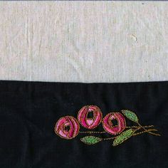 hand embroidered craftsman/mission styled place mats