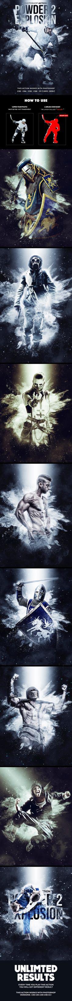 Powder Explosion 2 Photoshop Action — Photoshop ATN #power #action • Download ➝ https://graphicriver.net/item/powder-explosion-2-photoshop-action/21761850?ref=pxcr