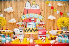 Blog maternidade Meu Dia D Mãe - Festa Menino Pedro 01 Ano - Decoração Snoopy Amarela e vermelha (3)