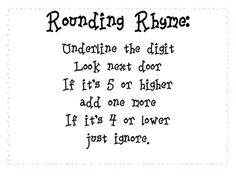 Help your kids remember what to do when you round with this nifty rhyme....