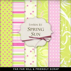 Freebies Background Kit - Spring Sun