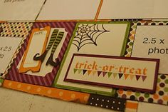 scrapbook generation layout - halloween