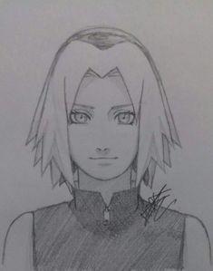Naruto Drawings Easy, Naruto Sketch Drawing, Easy Drawings Sketches, Anime Sketch, Sasuke Drawing, Anime Naruto, Fan Art Naruto, Anime Art Girl, Manga Art