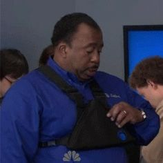 Stanley Hudson doing his thing... Giving absolutely zero Fs