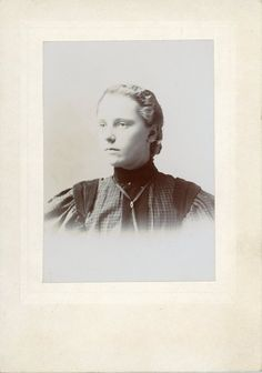 """This is a """"Unknown"""" Cabinet Card Photo  There is no Photographer listed to determine the area in which this person may have lived."""
