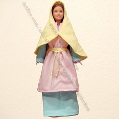 Biblical Japheths Wife Pink and Blue Dress Barbie Fashion Doll Outfit | WRFollowingtheSon