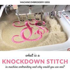 What is a knockdown stitch? - Machine Embroidery Geek