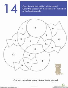number 14 coloring page - 1000 images about school based ot on pinterest hidden