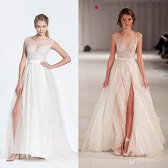 Wholesale Celebrity Dresses - Buy 2014 Hot Sheer Celebrity Dresses Scoop Neck Cap Sleeves Lace Applique A-Line Floor Length Side Slit Red Carpet Gowns Evening Dresses, $108.17 | DHgate