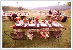 iron bistro, bistro chair, wine country, country weddings, alchemi fine, wrought iron, fine event, reception tables