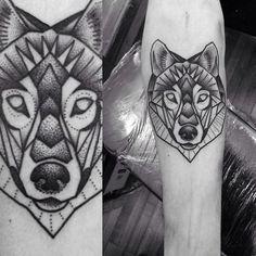wolf tattoo geometric - Google Search