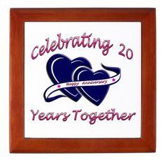 Celebrating 20 Years Together Keepsake Box Makes A Wonderful 20th. Anniversary Gift.
