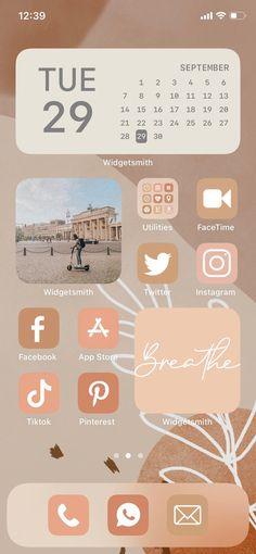 App Iphone, Iphone Wallpaper Ios, Iphone App Design, Iphone App Layout, Ios Wallpapers, Iphone Wallpaper Tumblr Aesthetic, Iphone Icon, Iphone Background Wallpaper, Beige Wallpaper