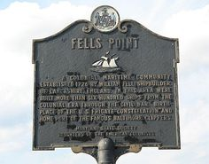 Fells Point plaque