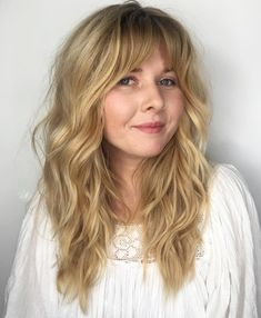 Brunette Balayage for Thick Hair - 50 Cute Long Layered Haircuts with Bangs 2019 - The Trending Hairstyle Layered Haircuts With Bangs, Short Hair With Layers, Long Hair Cuts, Layered Hairstyles, Choppy Layers, Long Wavy Hairstyles, Bangs Long Hair, Haircuts For Wavy Hair, Braided Hairstyles