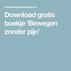 Download gratis boekje 'Bewegen zonder pijn'