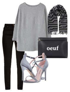 """""""Cozy Grey"""" by pitaa29 on Polyvore featuring Yves Saint Laurent, MANGO, Loewe, Chinese Laundry and Kenzo"""