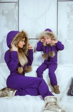 """""""Winter is coming and we are ready for it."""" - Mommy and Me Fashion -meadoria Mom And Baby Outfits, Mother Daughter Matching Outfits, Mother Daughter Fashion, Kids Outfits, Young Fashion, Kids Fashion, Mom Dress, Future Daughter, Little Fashionista"""
