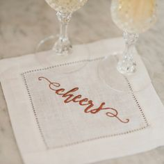 Looking for the perfect wedding gift? Linen cocktail napkins are the way to go! Personalize them with the bride and groom's new monogram, and you're set! Get your order in today!