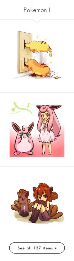 """""""Pokemon I"""" by crochetmonsteradict ❤ liked on Polyvore featuring filler, pokemon, anime, pokemon people, drawings, backgrounds, fillers, accessories, doodles and quotes"""
