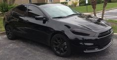 Blacked out Dodge Dart
