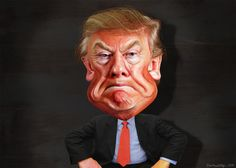 He is ugly, loud and obnoxious. He makes a fetish of youth and wealth (the American Dream), a Blonde Beast with blow-dried, fake-colored hair. He trades in the base coinage of freedom and democracy…