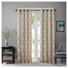Monroe Embroidered Window Curtain Panel : Target